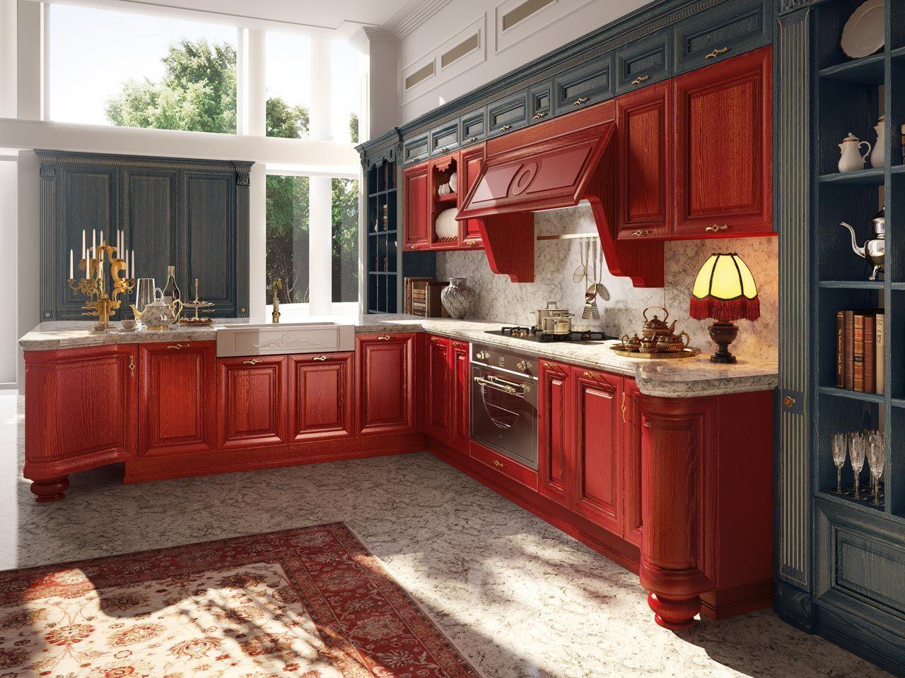 Cucina decapata con maniglie collezione pantheon by cucine for Maniglie cucina lube