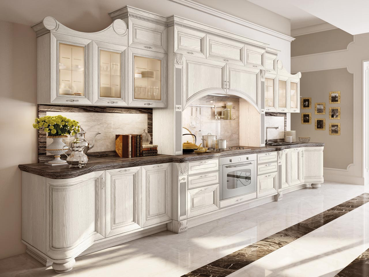 Pantheon lacquered kitchen by cucine lube - Immagini cucine moderne ...
