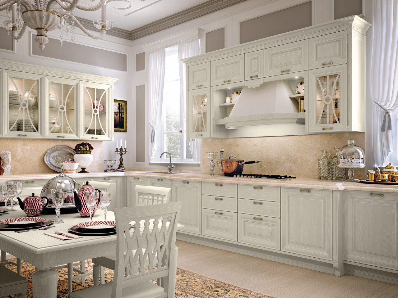 pantheon cucina in legno by cucine lube