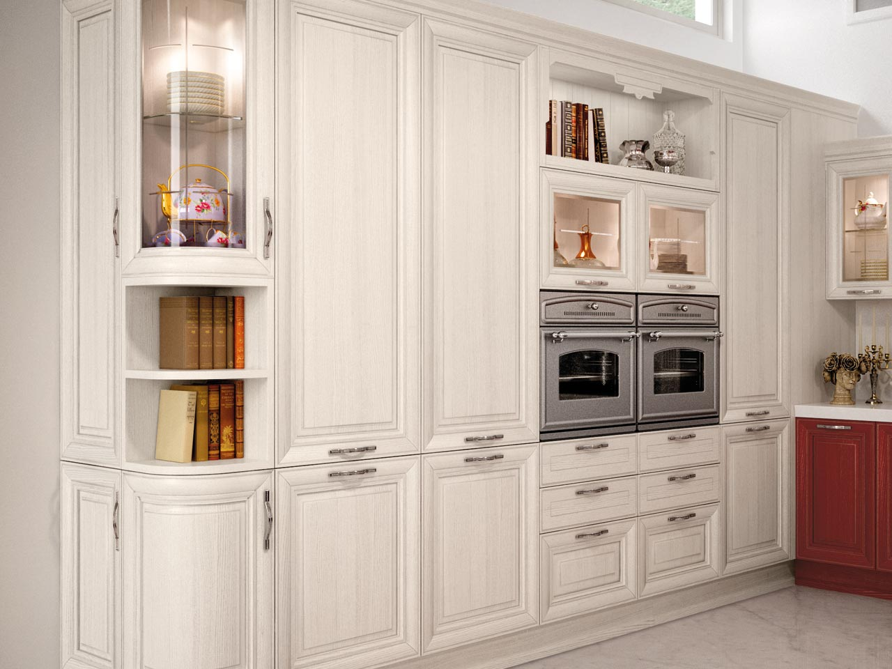 decap kitchen with handles pantheon collection by cucine lube. Black Bedroom Furniture Sets. Home Design Ideas