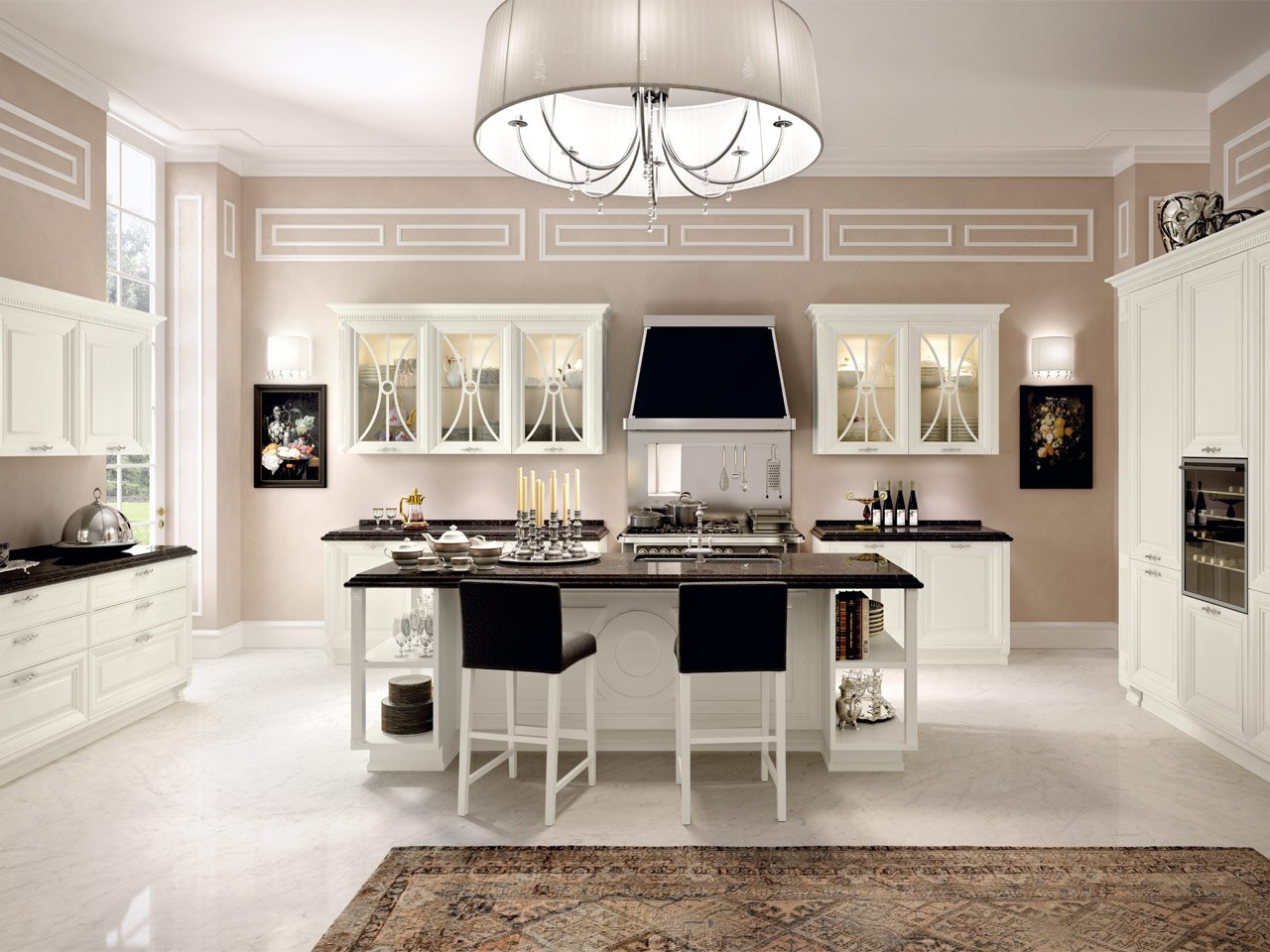 pantheon cucina con isola by cucine lube. Black Bedroom Furniture Sets. Home Design Ideas
