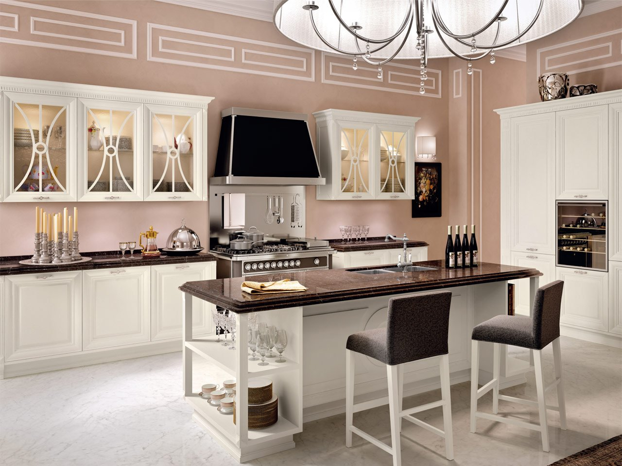 Pantheon cucina con isola by cucine lube