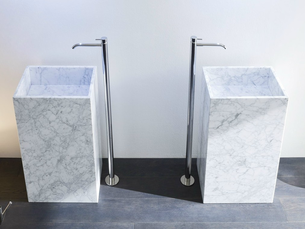 Unico lavabo in marmo di carrara by rexa design design for Marmol de carrara limpieza