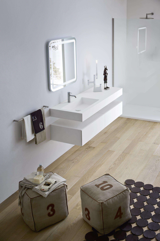 Unico meuble pour salle de bain by rexa design design for Meuble salle de bain corian