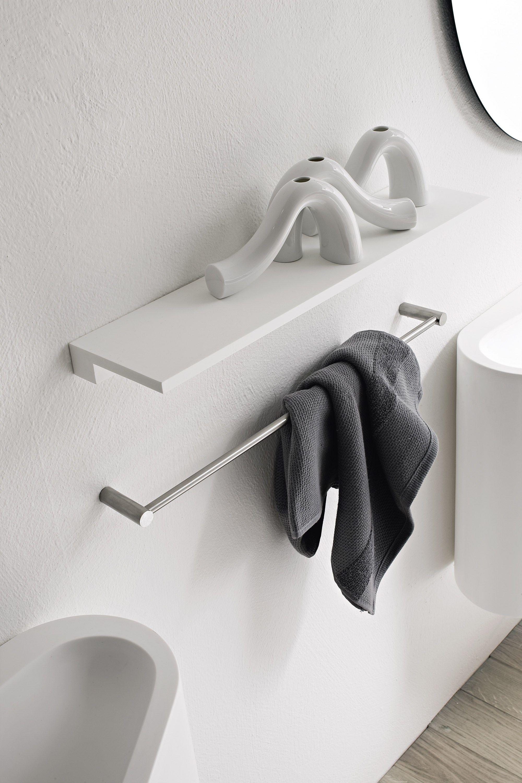 Minimal bathroom wall shelf by rexa design - Bathroom wall cabinet with towel rack ...