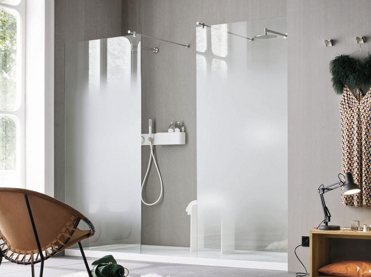 Parete per doccia in vetro NUVOLA by Rexa Design design Giulio ...