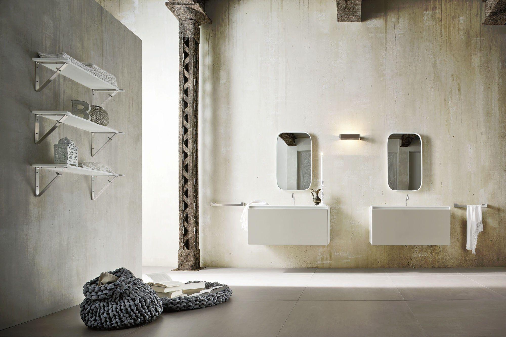 Ergo nomic single vanity unit by rexa design design giulio for Badezimmer corian