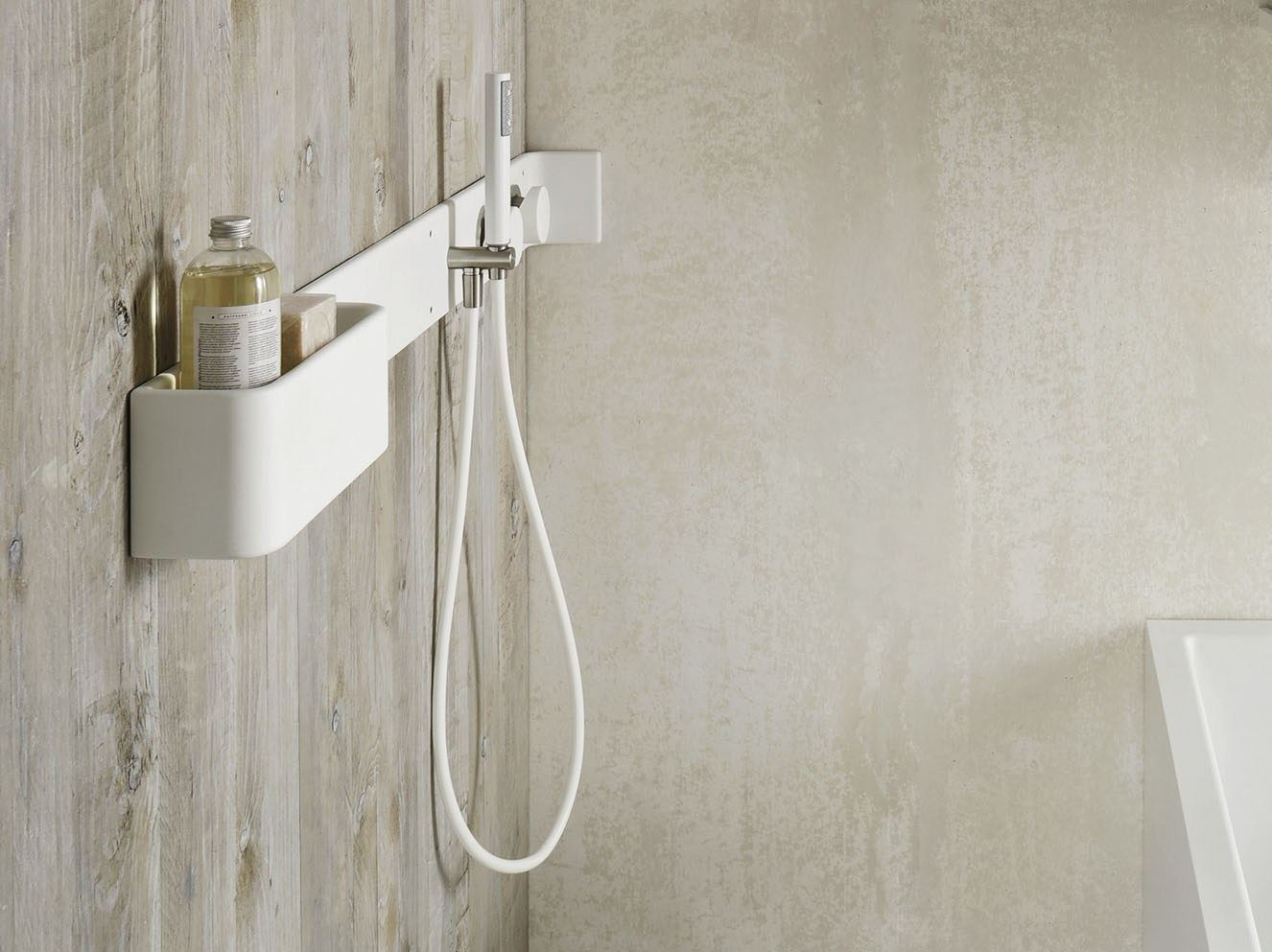 corian bathroom wall shelf shower tap ergo nomic