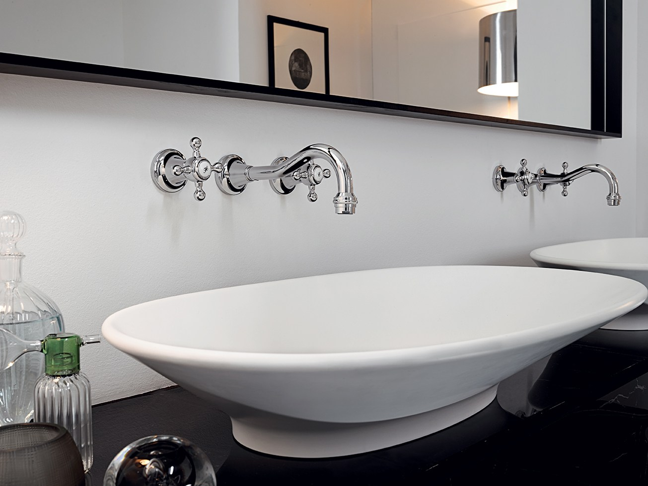 Agor robinet pour lavabo mural by zucchetti design - Robinet lavabo mural ...
