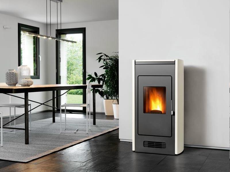 Stufa a pellet per riscaldamento aria p959 collezione for Stufe pirolitiche per riscaldamento