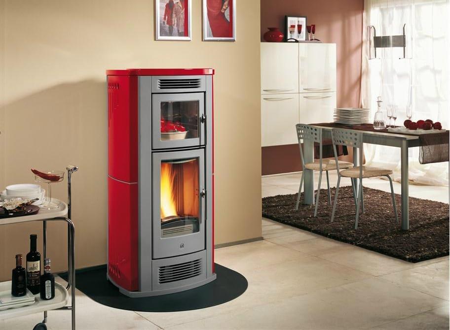 Stufa a pellet per riscaldamento aria p960 f collezione for Stufe pirolitiche per riscaldamento