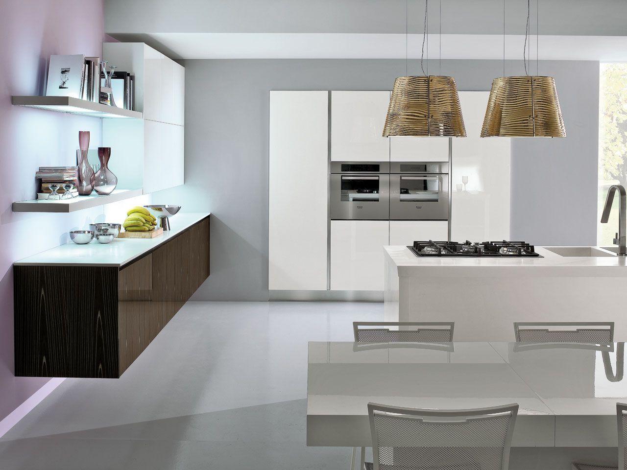 Cucina Brava Lube : Cucina componibile laccata con maniglie integrate
