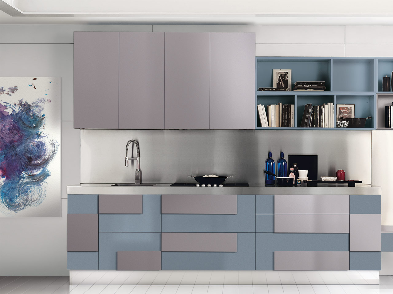creativa lacquered kitchen by cucine lube. Black Bedroom Furniture Sets. Home Design Ideas