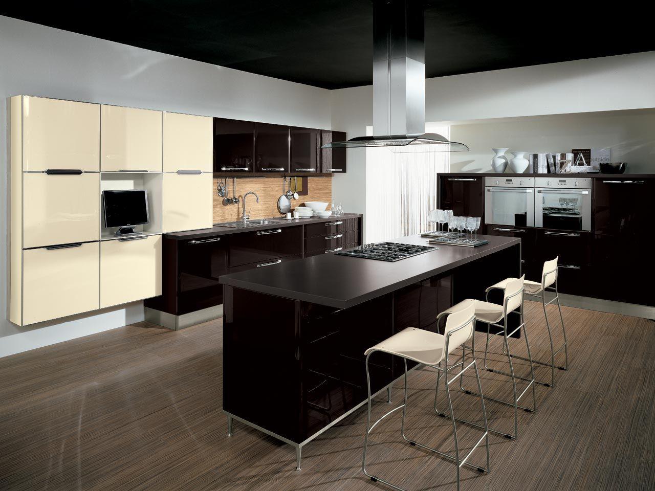 Cucina Componibile Laccata : Cucina componibile laccata con maniglie collezione doris