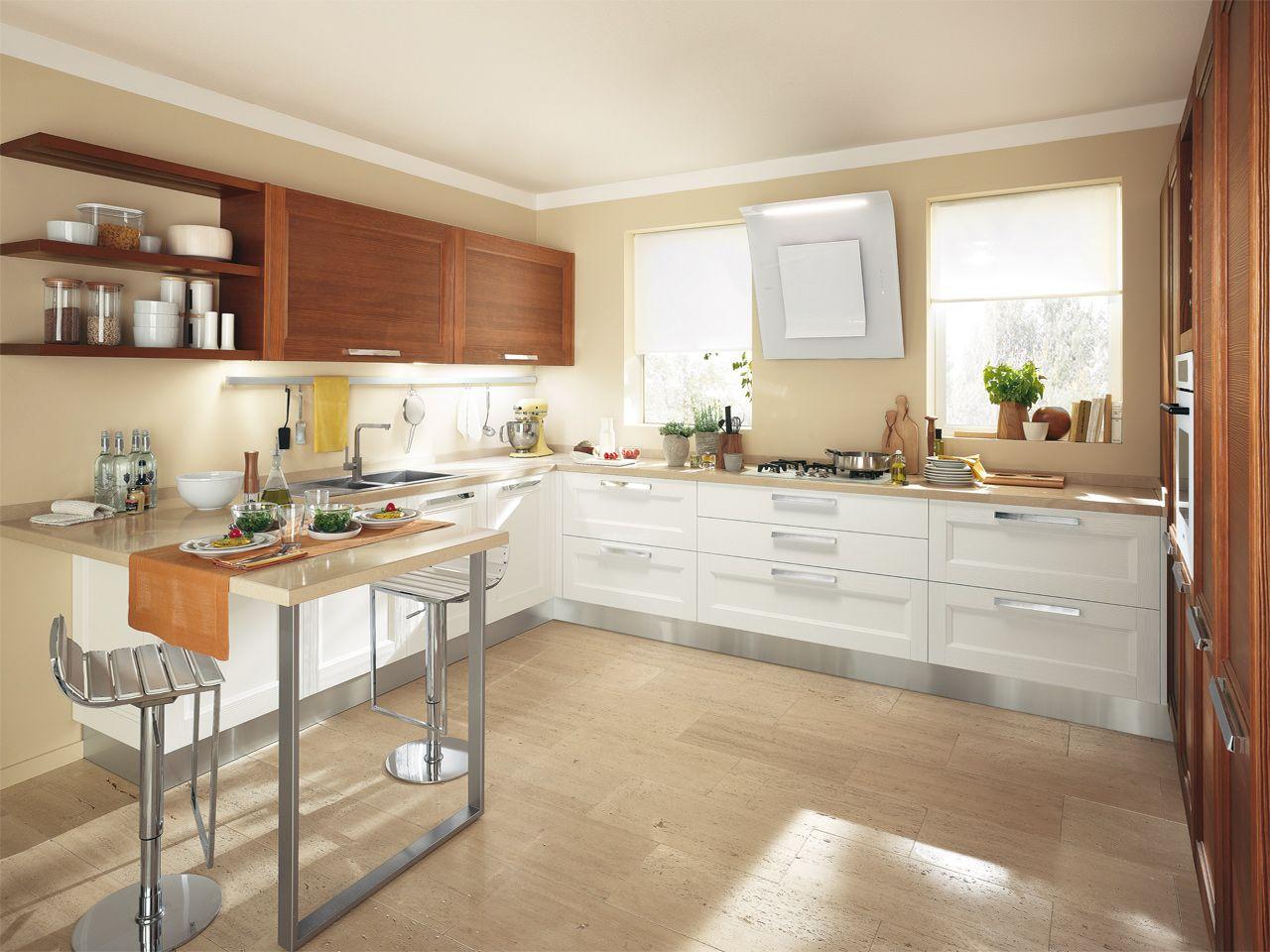 Cucina componibile in legno massello cucina laccata for Cucine componibili moderne prezzi
