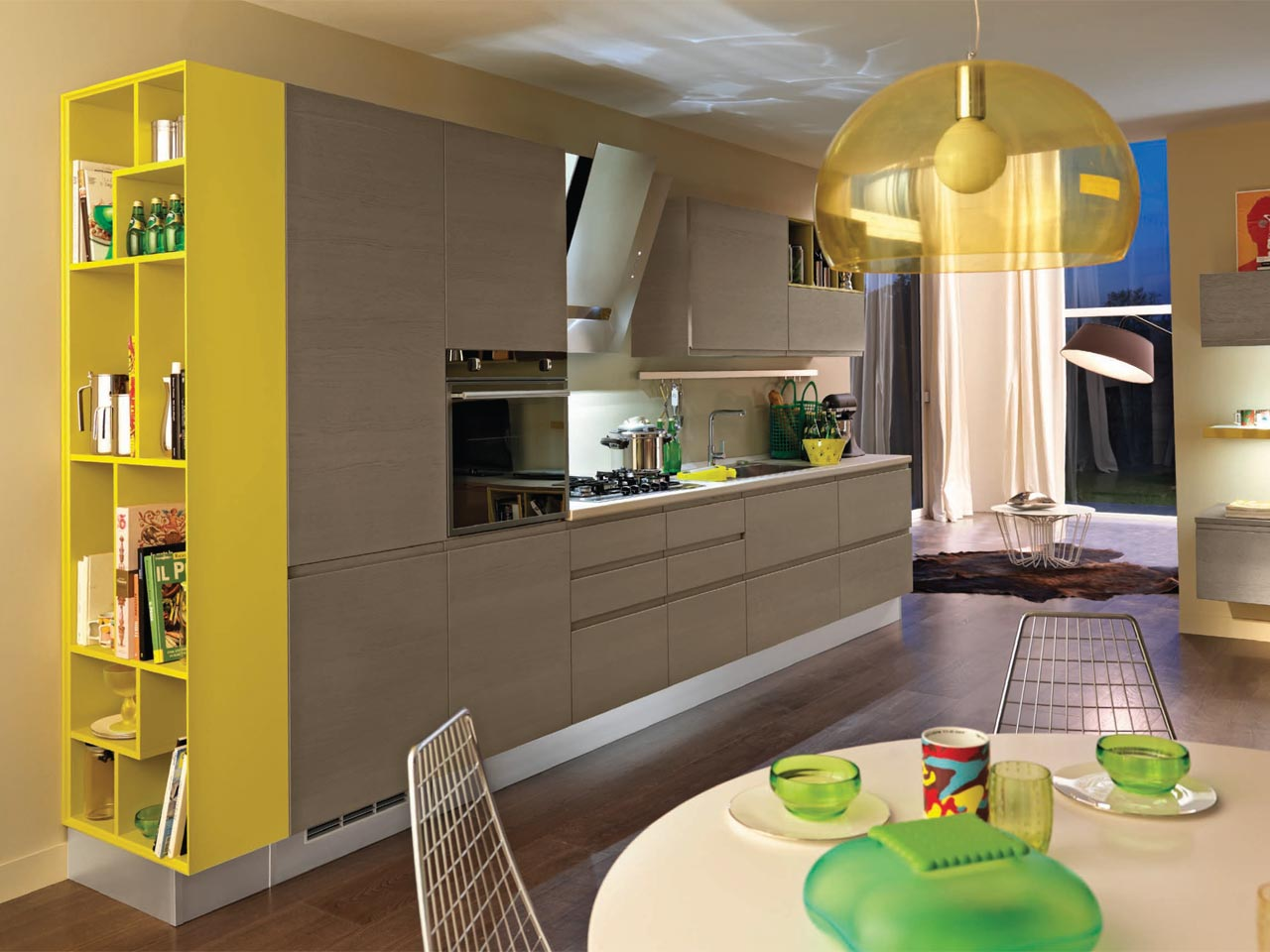 Linda kitchen by cucine lube for Wooden fitted kitchen
