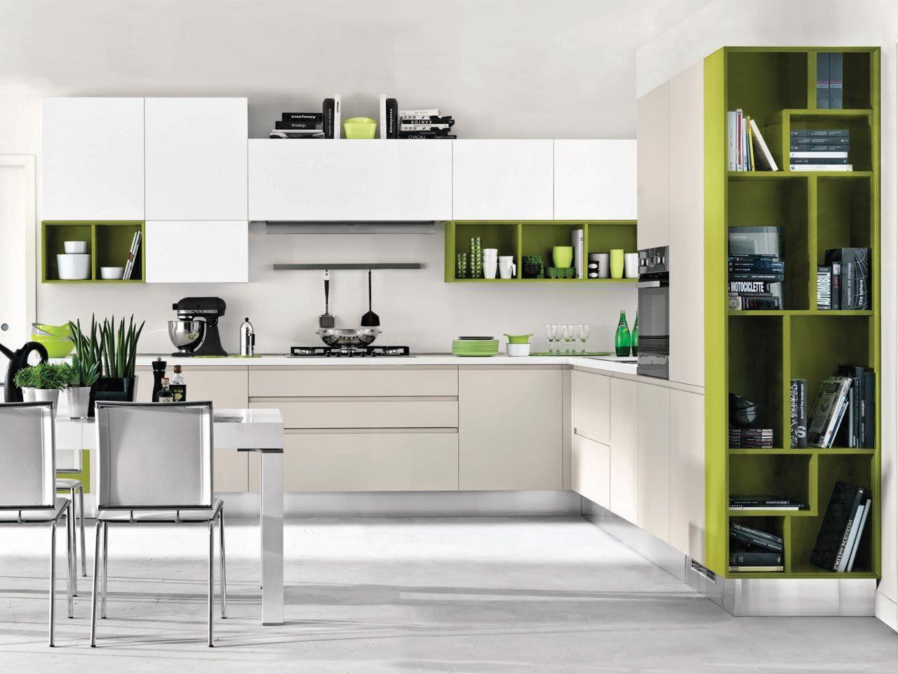 Linda cucina componibile by cucine lube - Cucina senza maniglie ...
