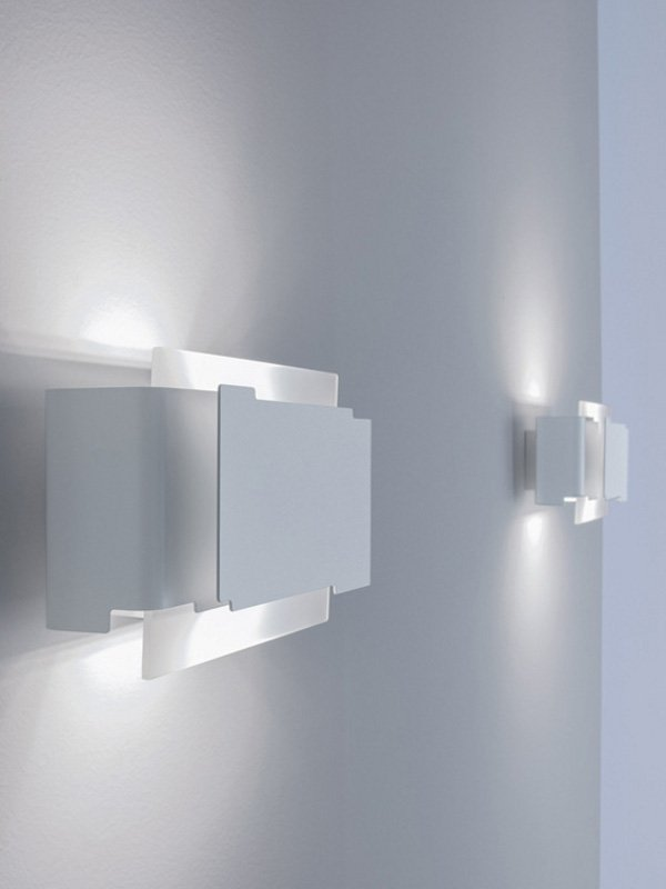 Applique murale led kat by lucente gruppo rostirolla for Applique murale wc