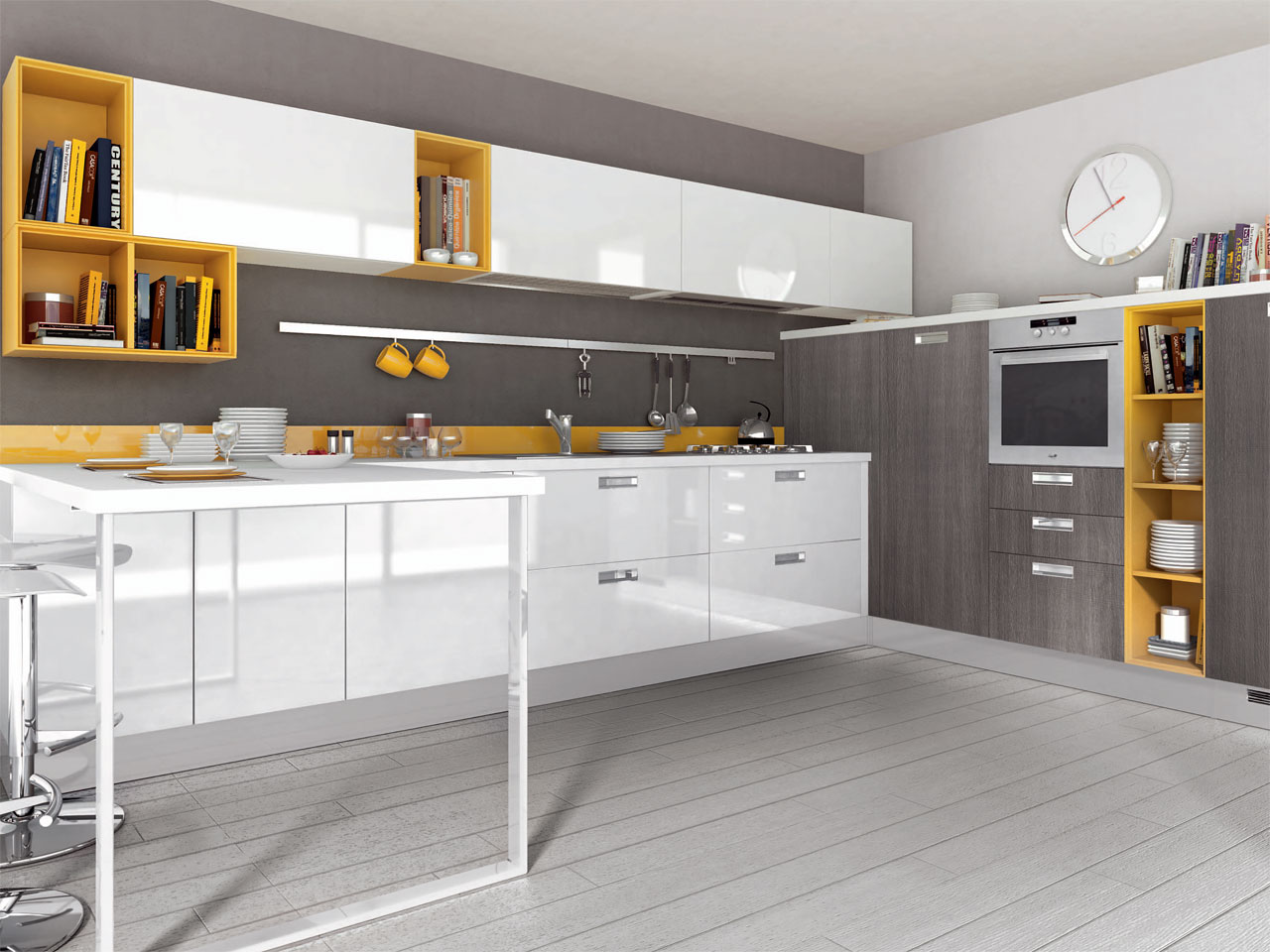noemi fitted kitchen by cucine lube. Black Bedroom Furniture Sets. Home Design Ideas