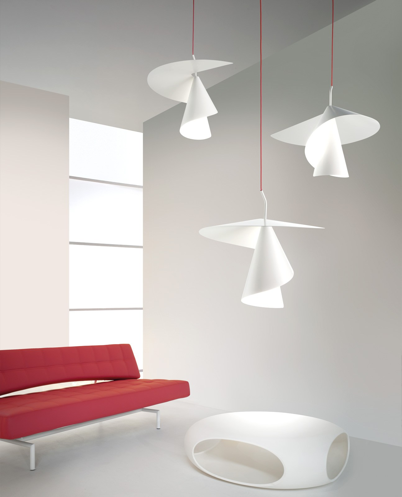 aluminium pendant lamp spiry by axo light design giovanni barbato. Black Bedroom Furniture Sets. Home Design Ideas