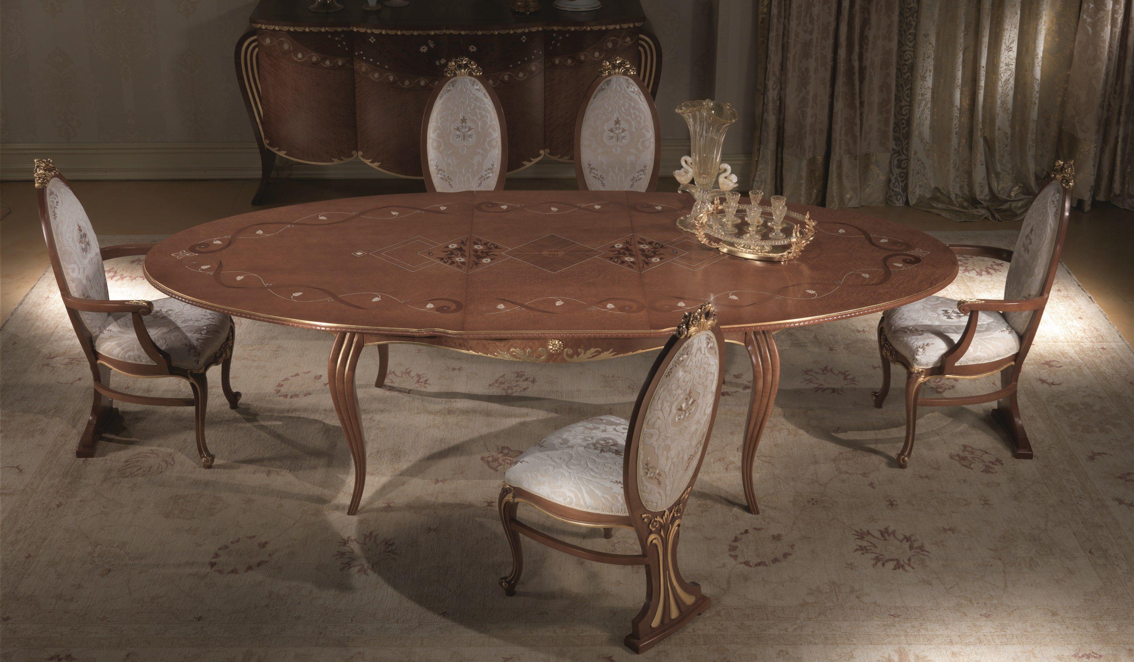 Vanity tavolo allungabile by carpanelli classic for Tavolo ovale allungabile legno massello