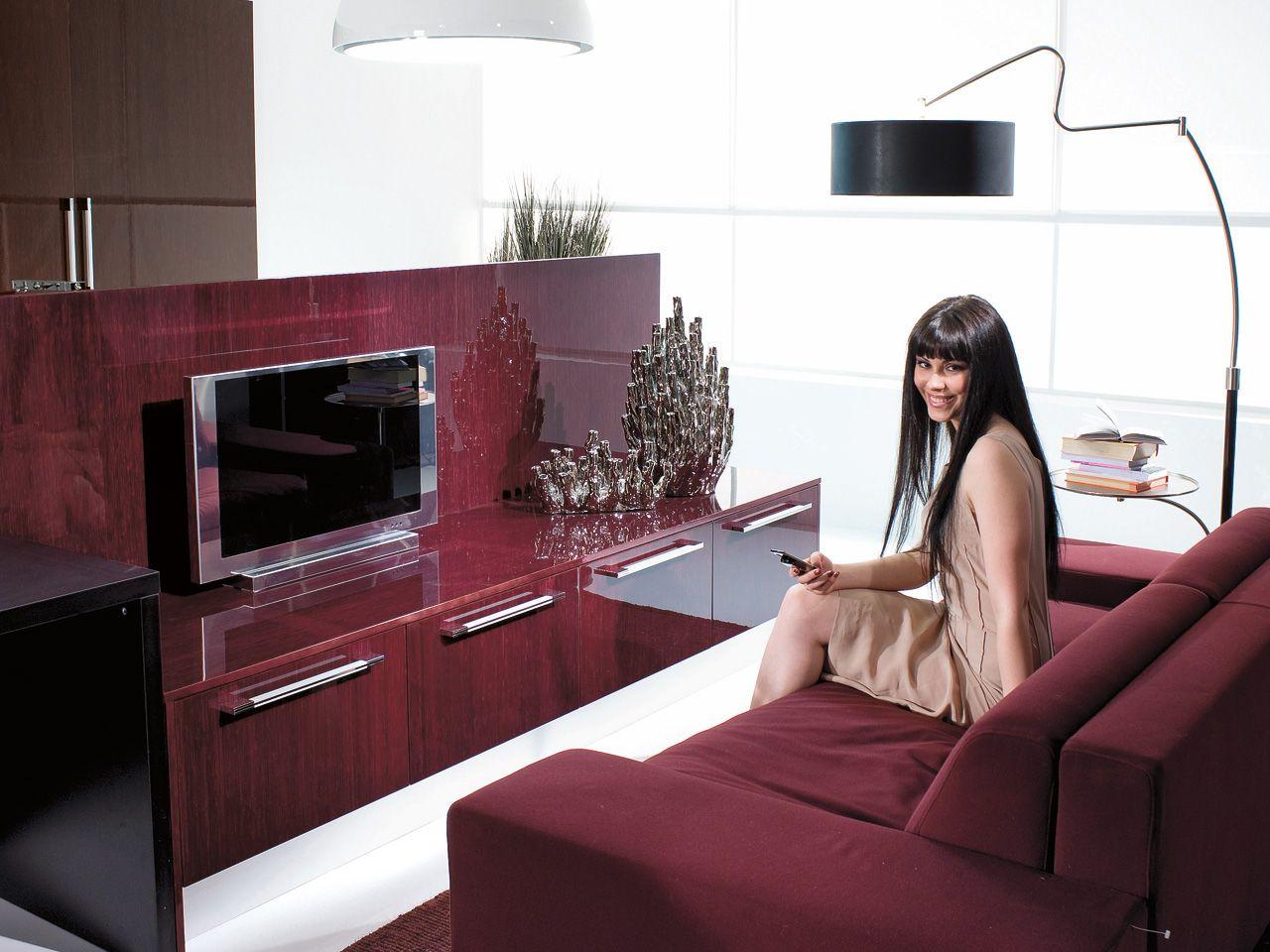 Tv Wohnwand Als Raumteiler : NILDE Raumteiler Wohnwand by Cucine Lube