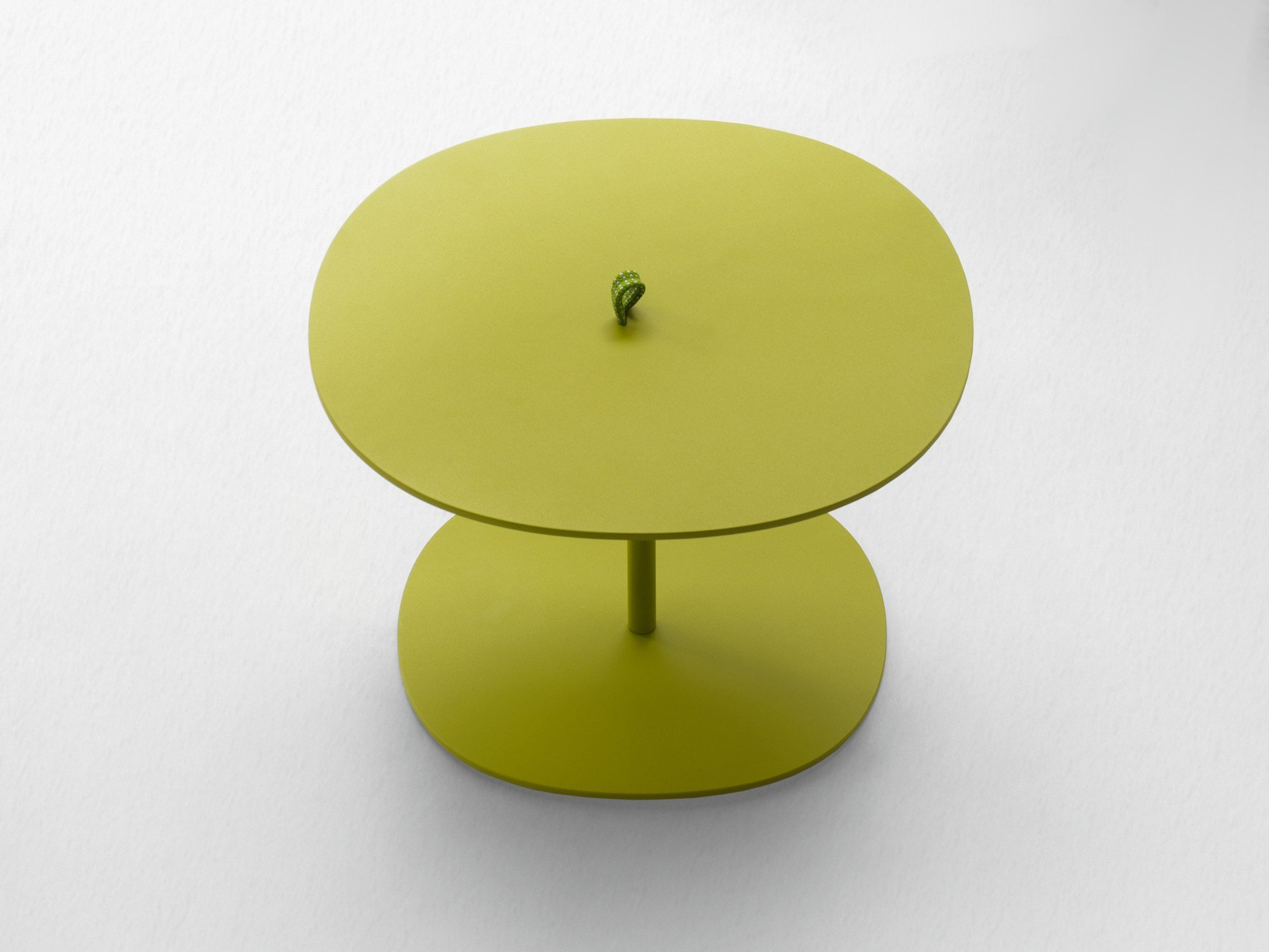 Round Garden Side Table Strap Aqua Collection By Paola