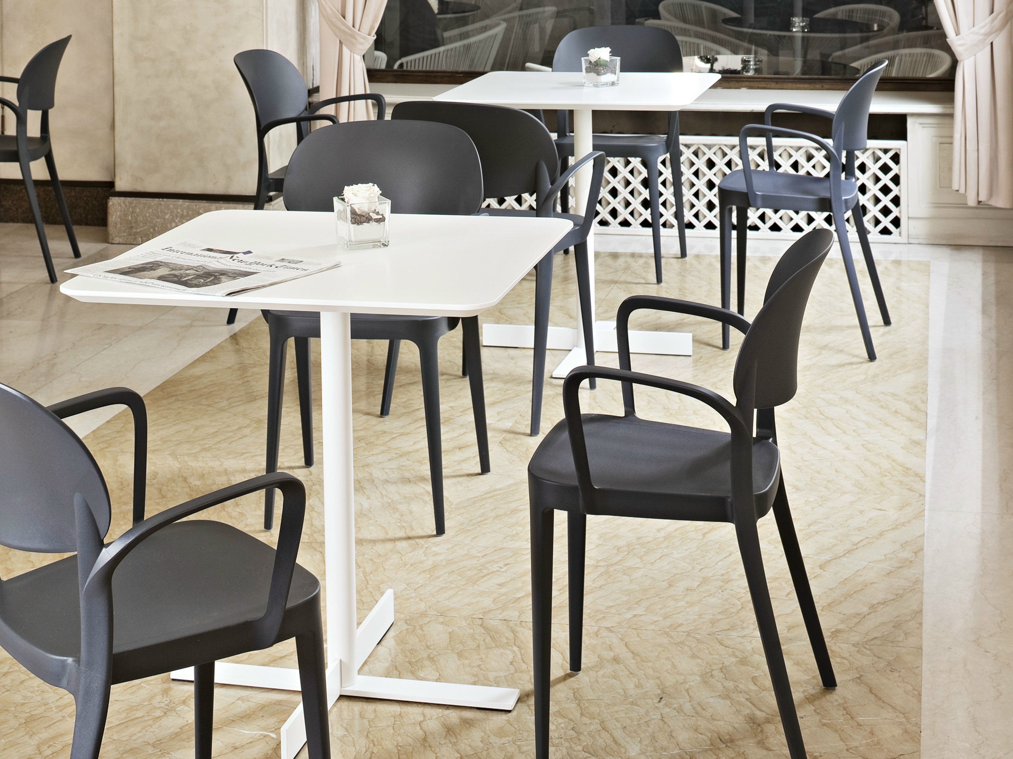 Design steel table people square table people collection - Mobilier de terrasse design ...