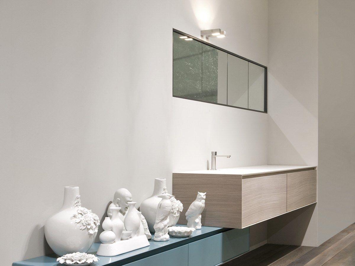 Pensile con specchio teatro by antonio lupi design - Specchio bagno incassato ...