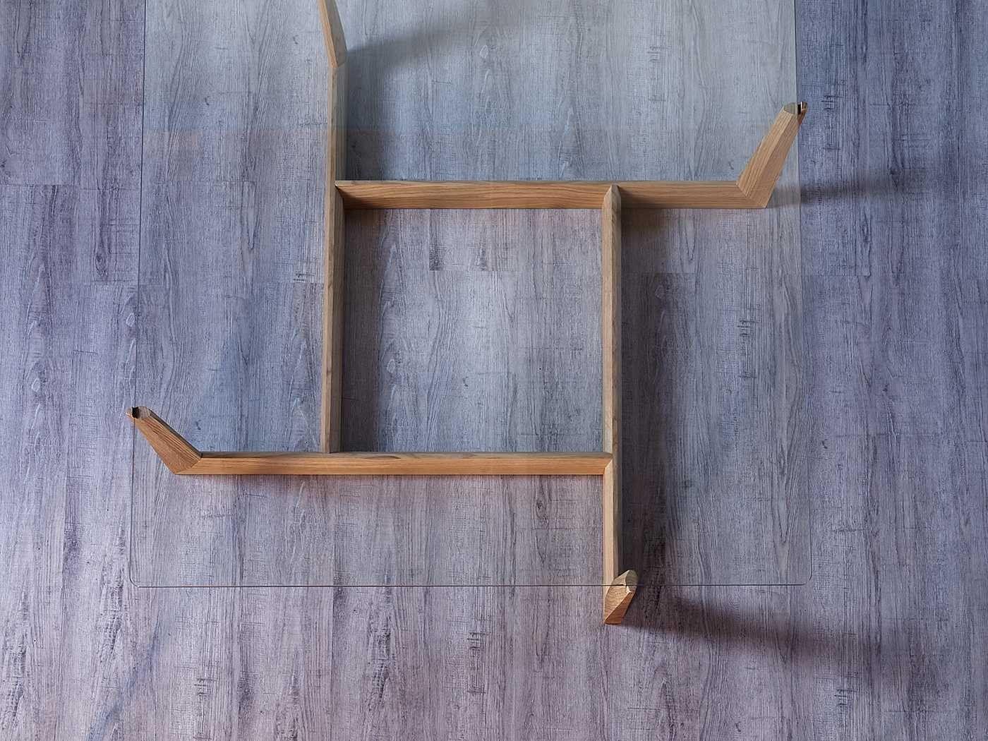 Tavolino Caffe Moderno Gaudo Miniforms : Tavolino basso da caffÈ in vetro gaudo quadrato