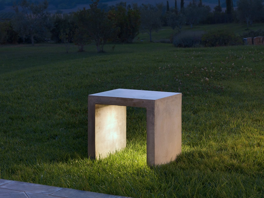 cement bench with integrated lighting i cementi bench luciferos bench lighting
