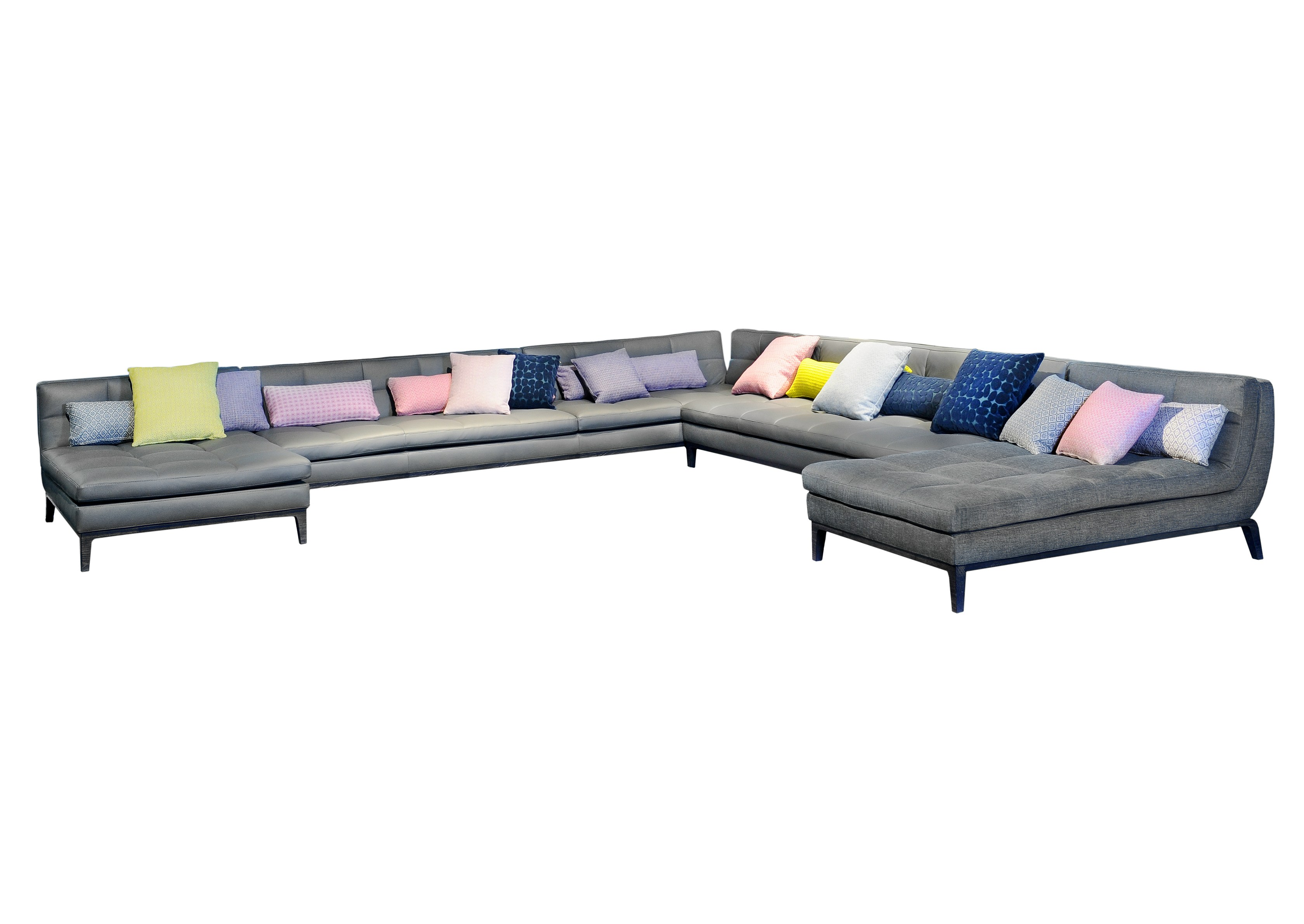 Corner upholstered sofa abstract by roche bobois design maurizio manzoni roberto tapinassi - Sofa rock en bobois ...
