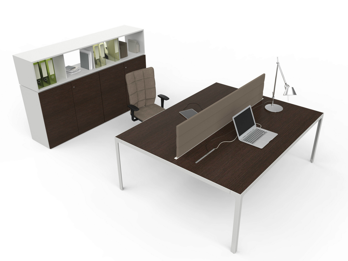 Escritorio de oficina modular operativo more 45 l nea for Escritorio modular
