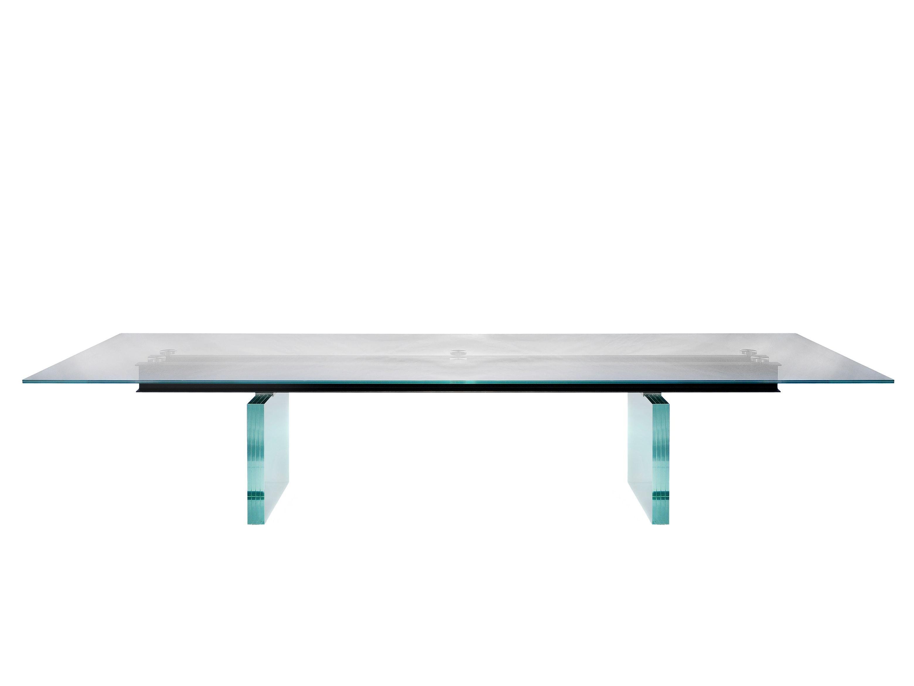 Table manger rectangulaire en verre less is more by - Roche et bobois table ...