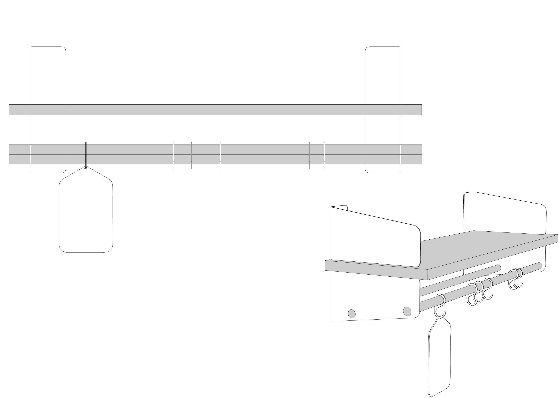 Stainless Steel Wall Shelf Atelier By Richard Lampert