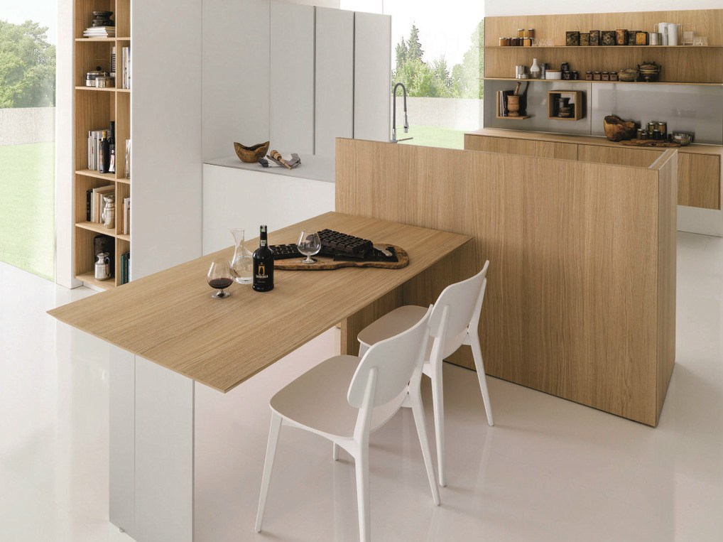 cuisine int gr e en bois kubic 3 by euromobil design roberto gobbo. Black Bedroom Furniture Sets. Home Design Ideas