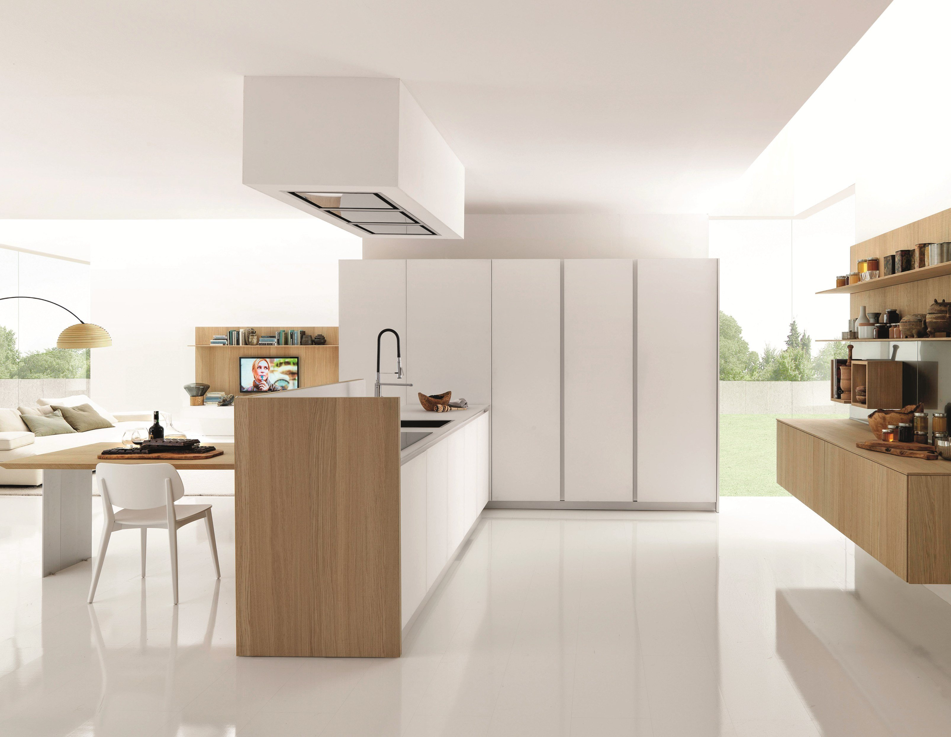 wooden fitted kitchen kubic 3 by euromobil design roberto gobbo - Cucina Euromobil