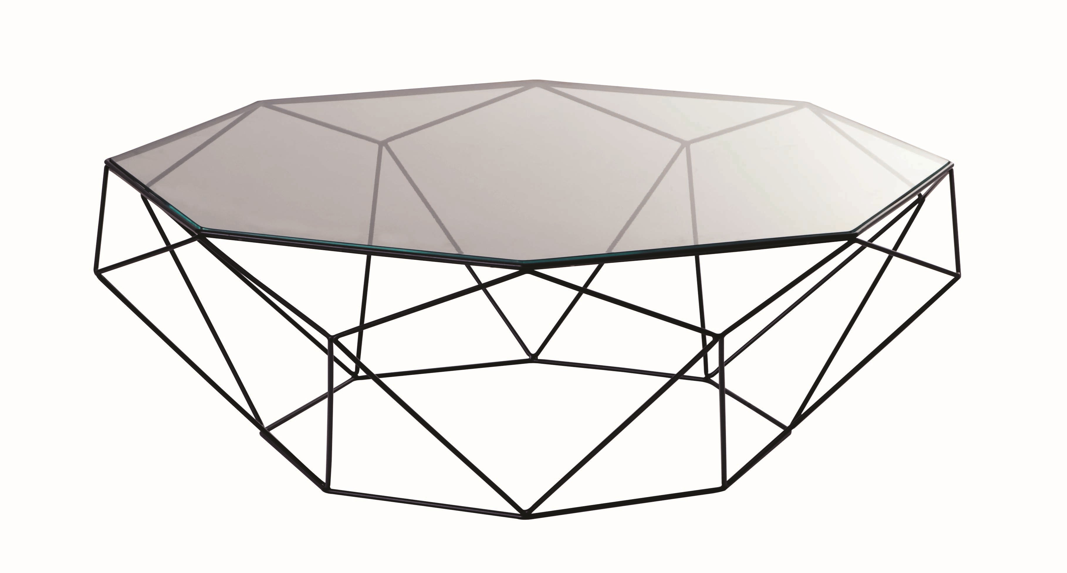 Design low steel coffee table precious round coffee for Table basse roche bobois prix