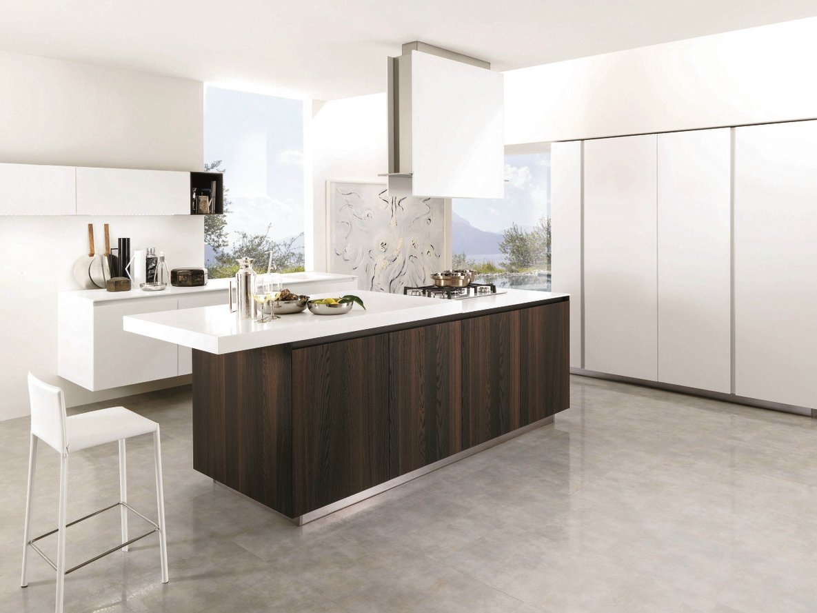 Wooden fitted kitchen filoantis 14 by euromobil design for Wooden fitted kitchen