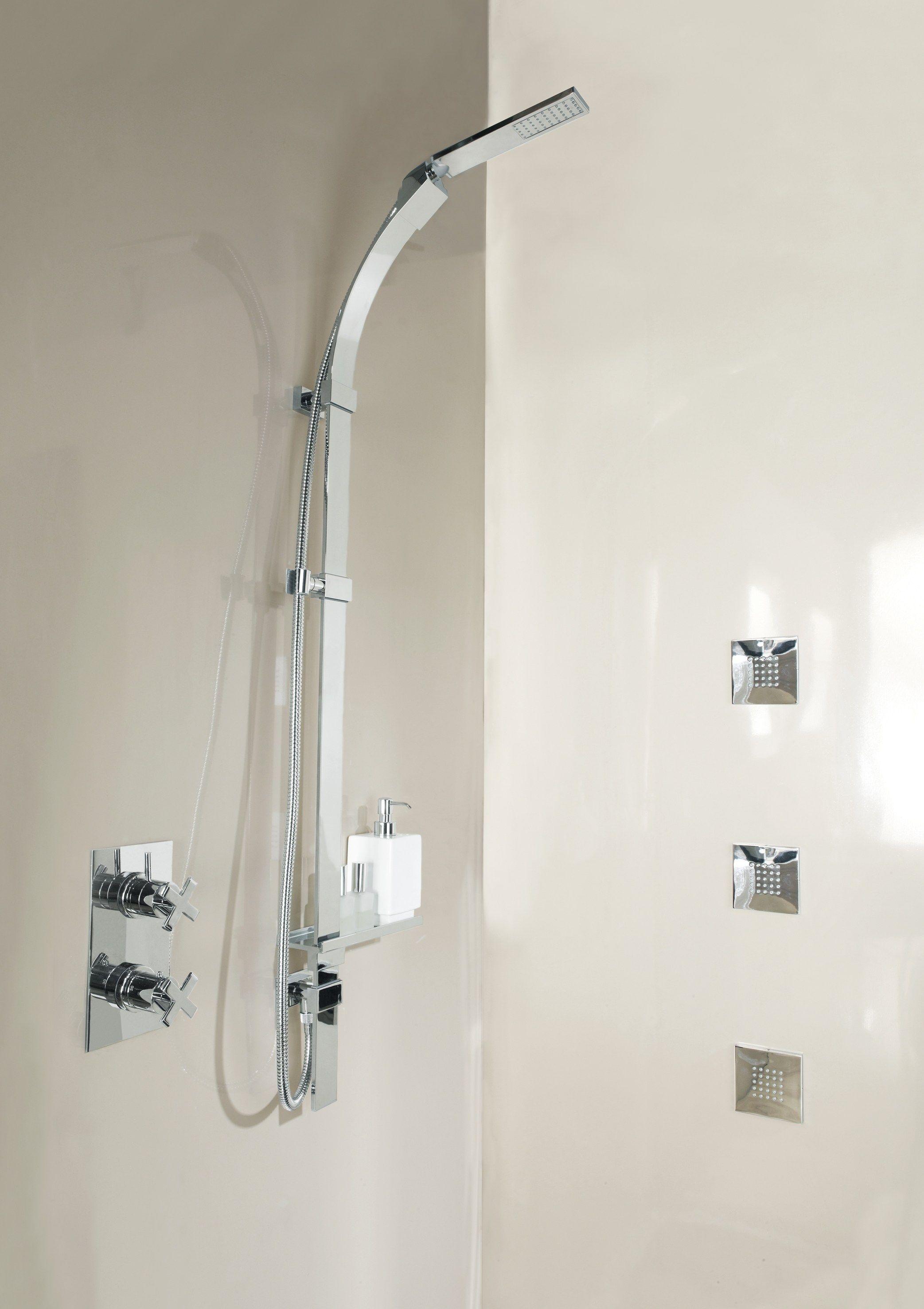 Asta saliscendi con doccetta con flessibile flat one by for Saliscendi per doccia