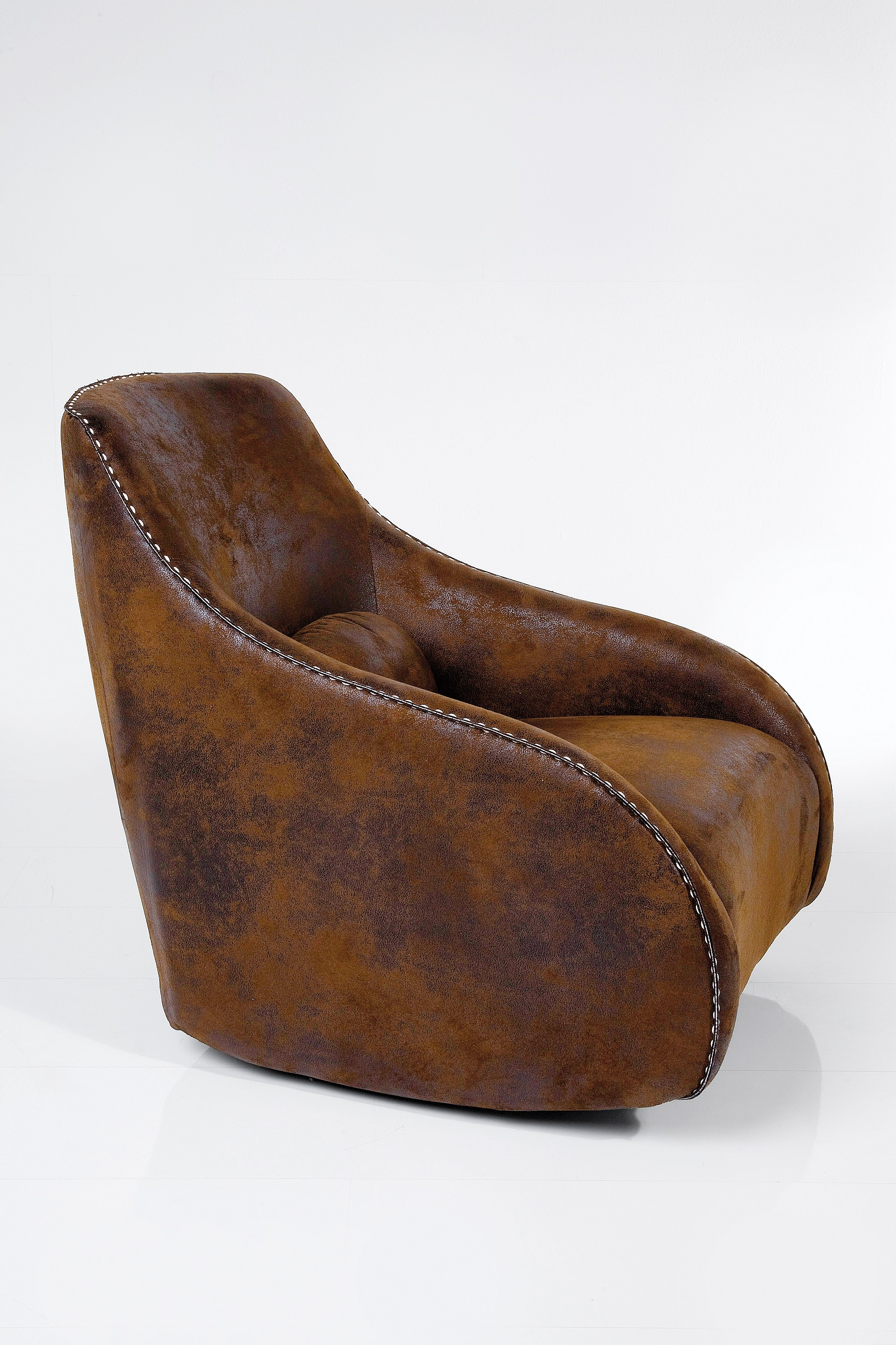 Salotto Pelle Vintage: Divano vintage in pelle marrone abbott il ...