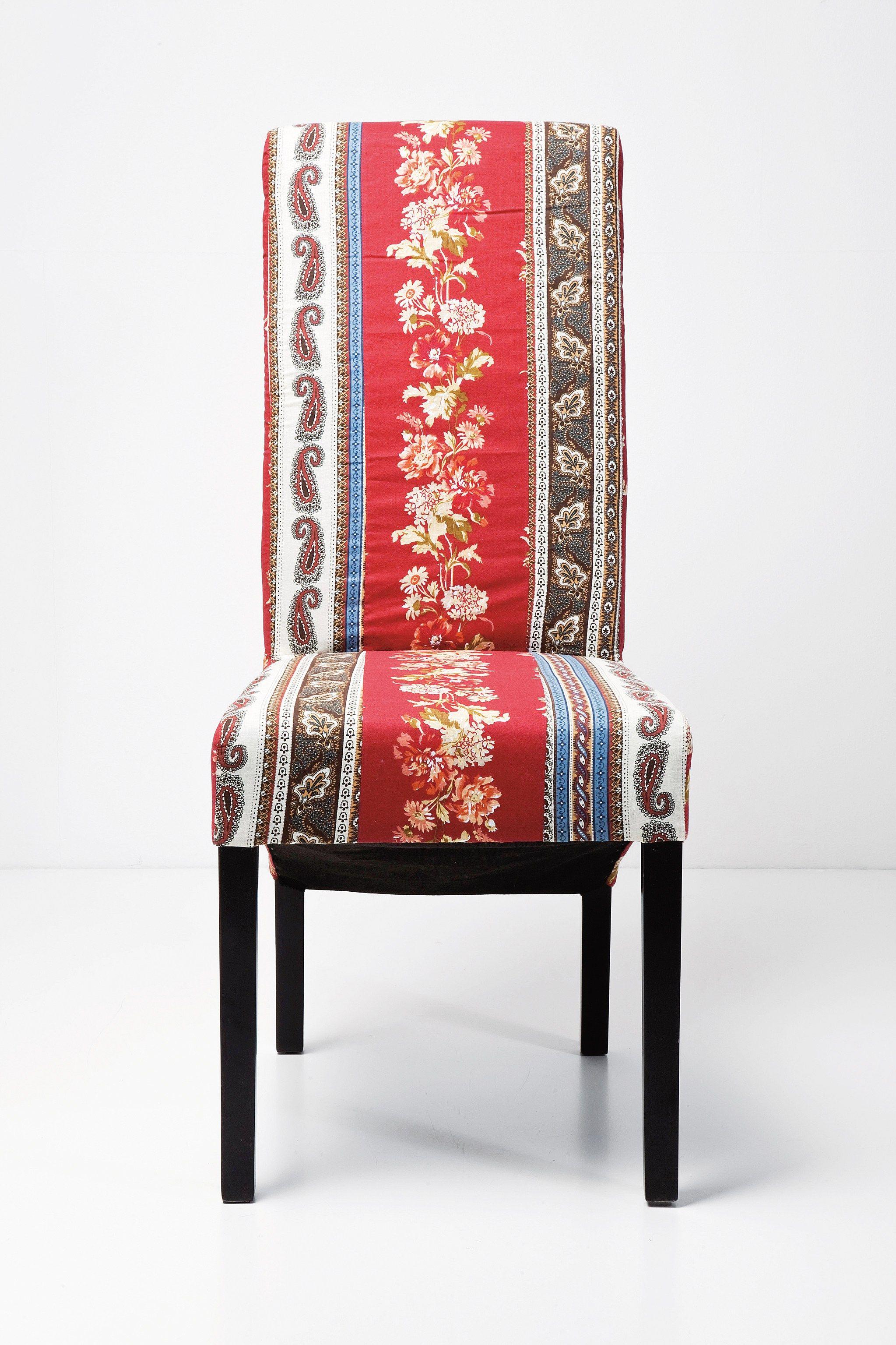 Sedia in tessuto con schienale alto patchwork sedia in for Sedia design schienale alto