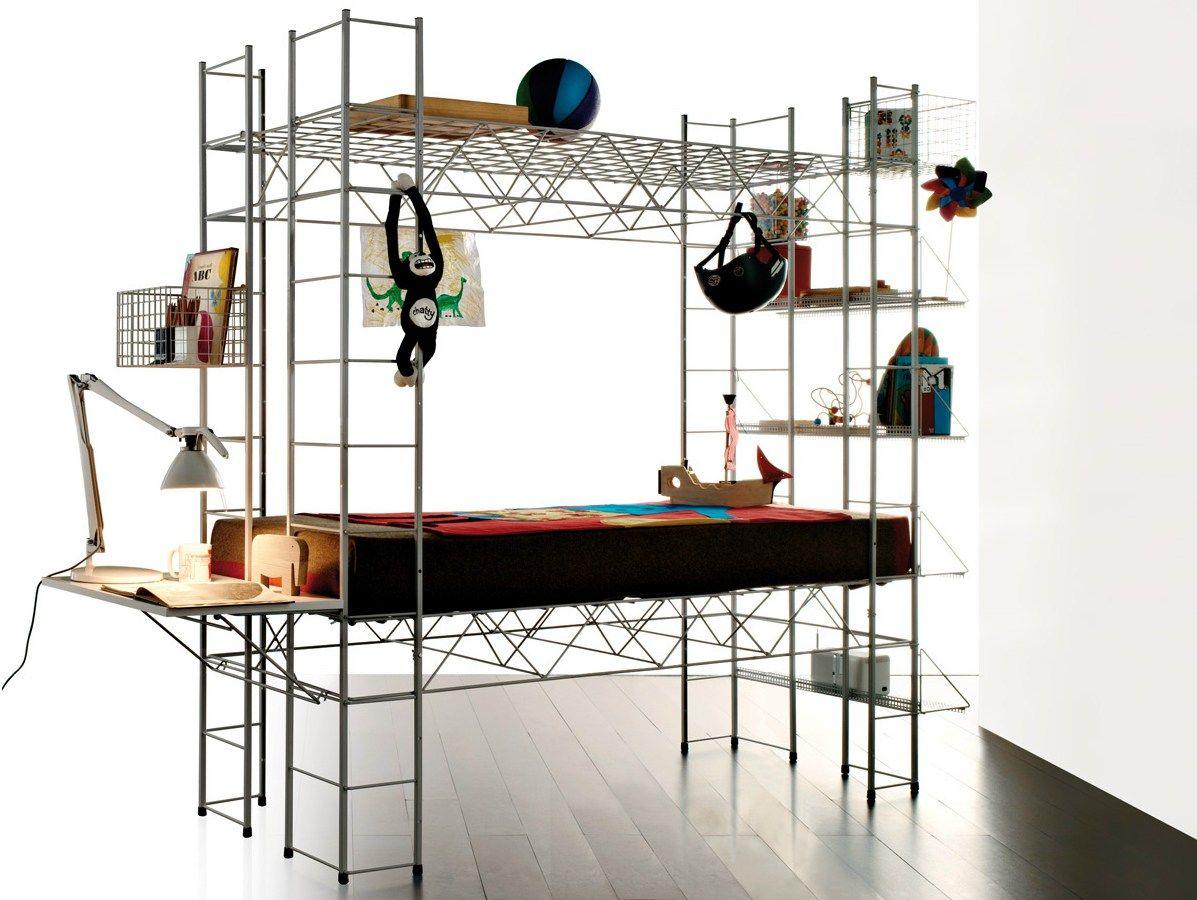 Letto multifunzionale ABITACOLO by REXITE design Bruno Munari