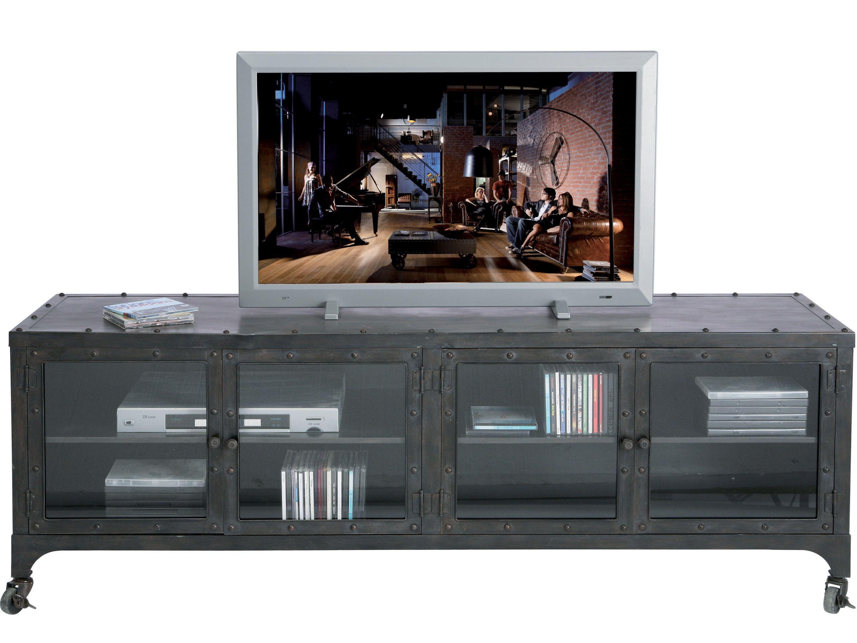 Meuble tv bas en verre cabinet factory by kare design - Meuble tv factory ...