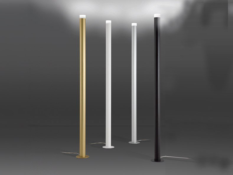 Lampadaire led en aluminium extrud led pole by alma light for Lampadaire interieur led
