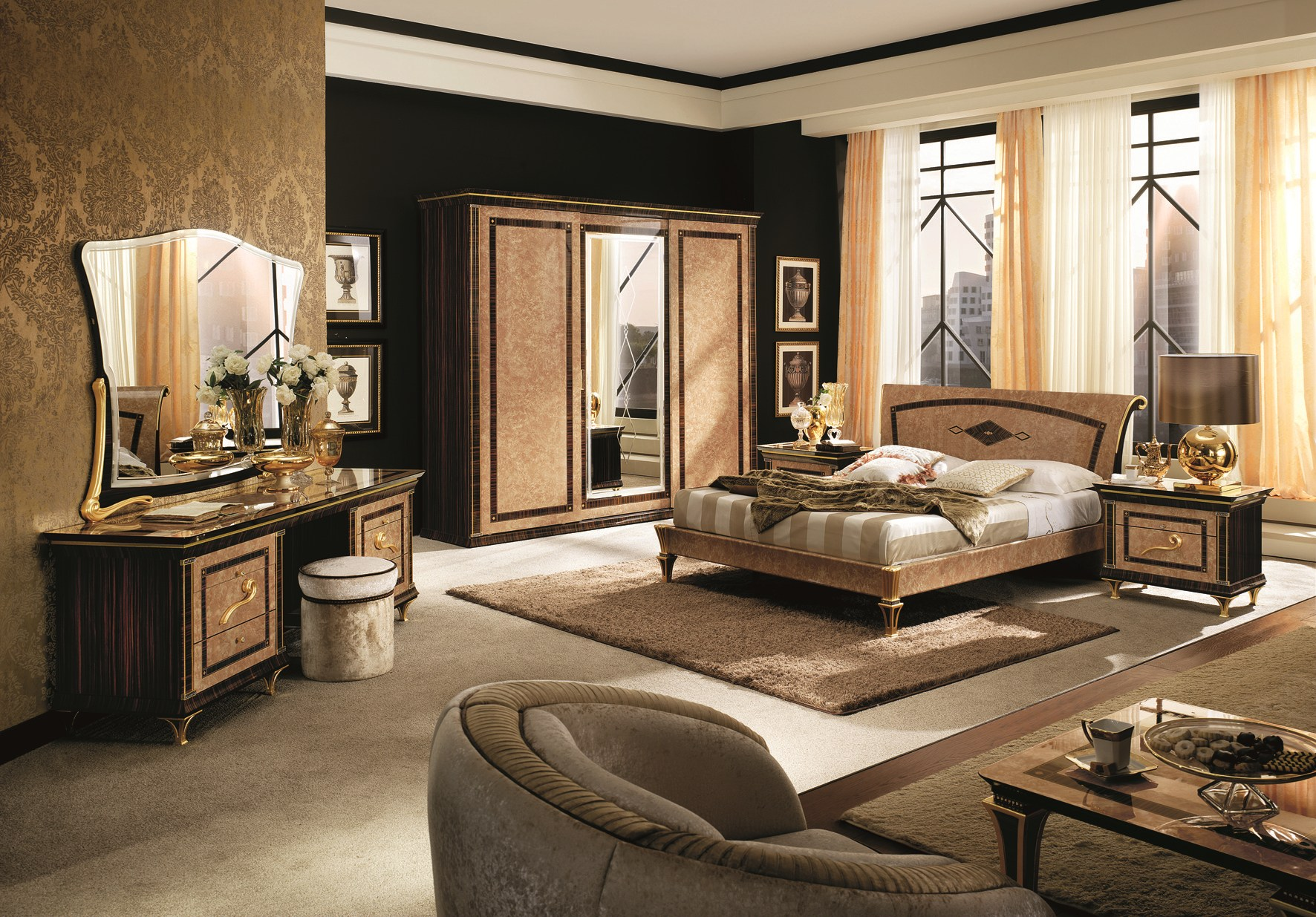 rossini schlafzimmer set by arredoclassic. Black Bedroom Furniture Sets. Home Design Ideas