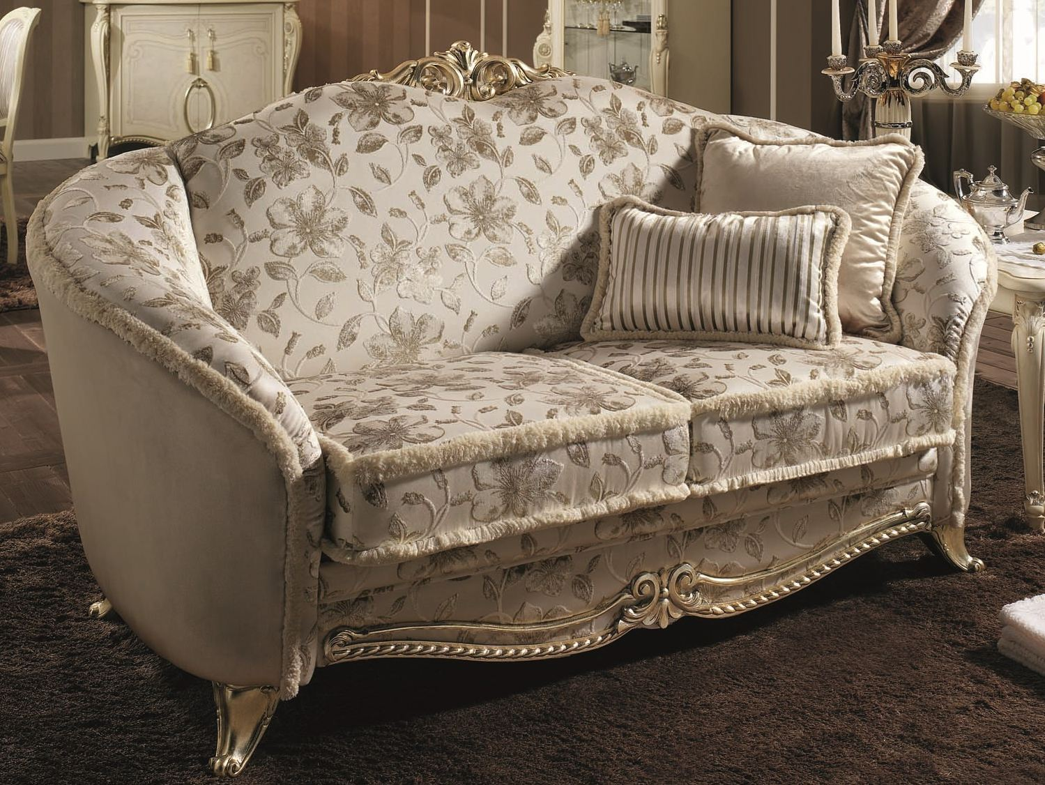 CLASSIC STYLE UPHOLSTERED 2 SEATER SOFA TIZIANO COLLECTION BY ARREDOCLASSIC