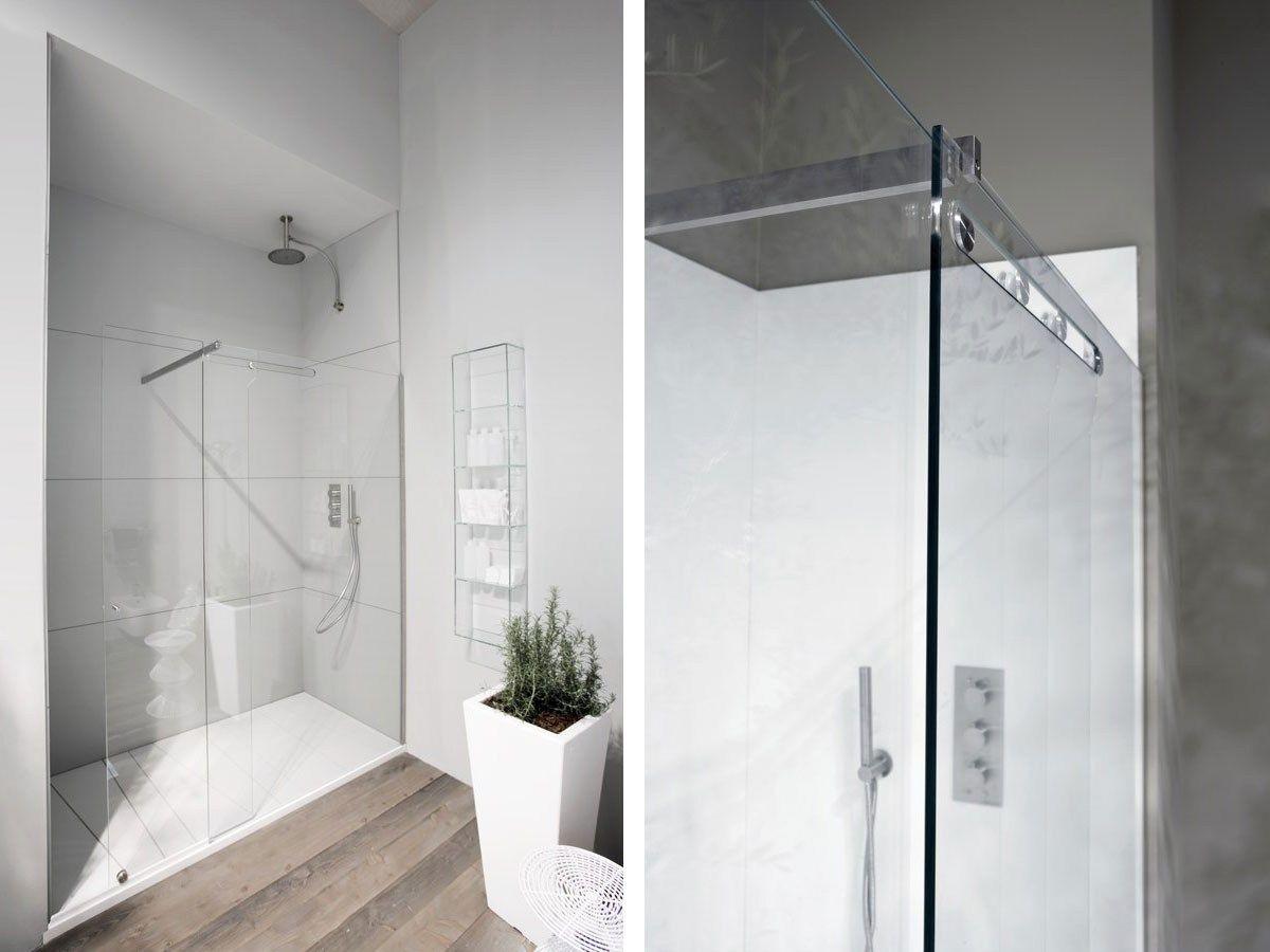 Cabine de douche en verre portes coulissantes on off by antonio lupi desig - Portes de douche en verre ...