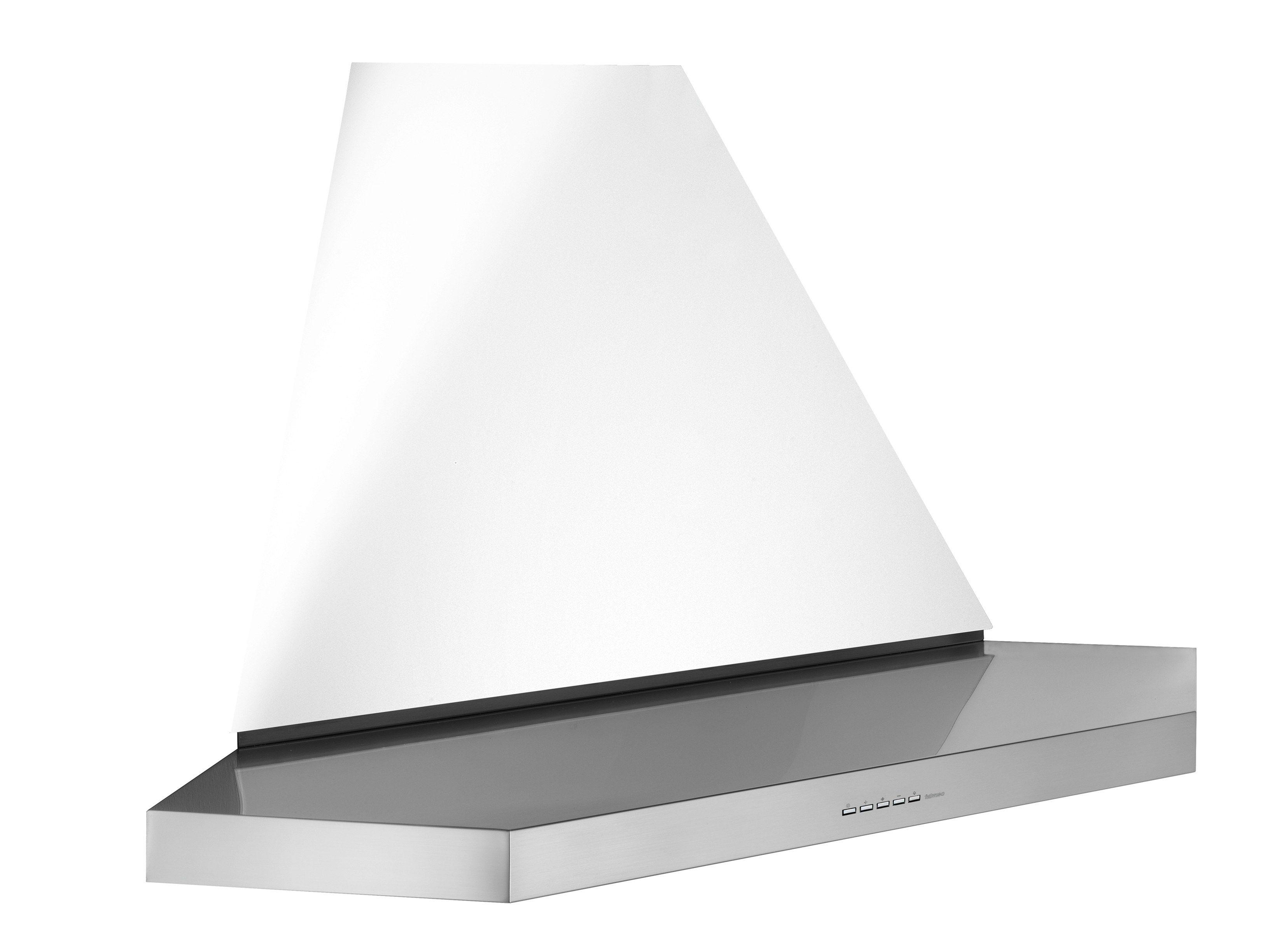 eck dunstabzugshaube aus edelstahl mit integrierter beleuchtung angolo plane kollektion design. Black Bedroom Furniture Sets. Home Design Ideas