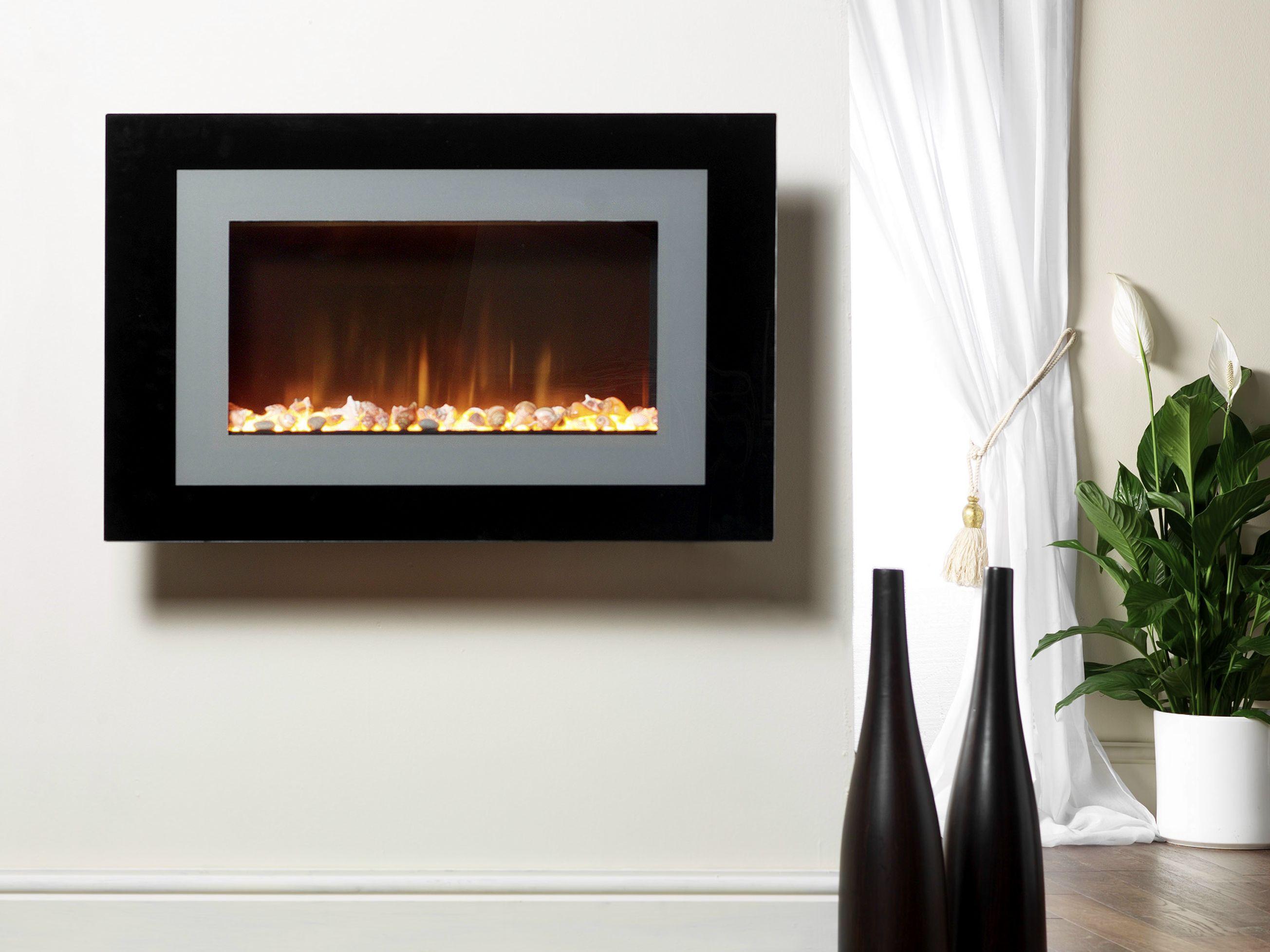 Chimenea el ctrica de pared ayston by british fires - Chimenea de pared ...